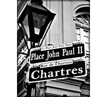 New Orleans Street Sign Photographic Print