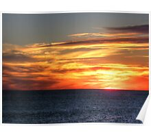 Indian Ocean Sunset Poster