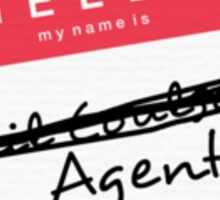 Hi, my name is... Agent? (Red) Sticker