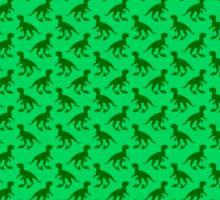 Dinosaur wallpaper pattern greens Sticker