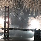Golden Gate Bridge 75th Anniversary fireworks by tabusoro