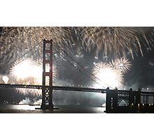 Golden Gate Bridge 75th Anniversary fireworks Photographic Print