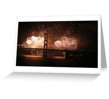 Golden Gate Bridge 75th Anniversary fireworks Greeting Card