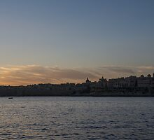Valletta, Malta Magic Hour Skyline by Georgia Mizuleva