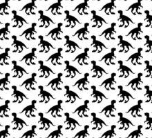 Dinosaur wallpaper pattern Sticker