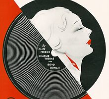 THE BROKEN RECORD (vintage illustration) by ART INSPIRED BY MUSIC