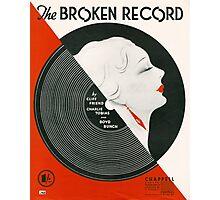 THE BROKEN RECORD (vintage illustration) Photographic Print
