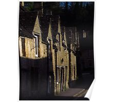 Medieval Cottages, The Street, Castle Combe Poster