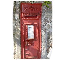 Old V R Postbox  Cornwall Poster