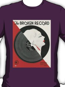 THE BROKEN RECORD (vintage illustration) T-Shirt
