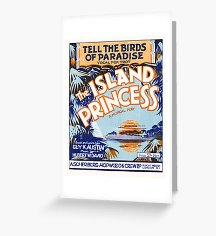 TELL THE BIRDS OF PARADISE (vintage illustration) Greeting Card