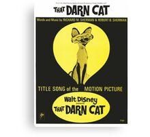 THAT DARN CAT (vintage illustration) Canvas Print