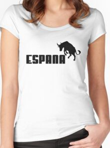 espana bull, puma style Women's Fitted Scoop T-Shirt