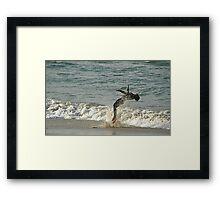 Beach Ballet Framed Print