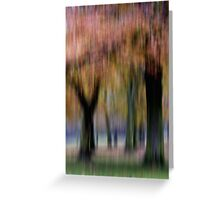 Group of Trees in Motion Greeting Card
