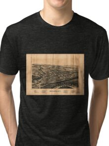 Panoramic Maps Mohawk NY Tri-blend T-Shirt