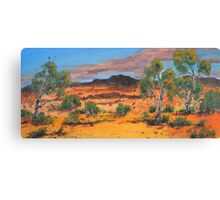 Red Country Canvas Print