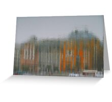 River Danube Reflection, Budapest Greeting Card
