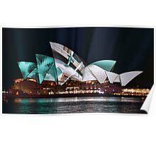 Opera House in Green - Vivid Sydney 2012 Poster