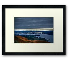 Slowly going up Ben Lomond Framed Print