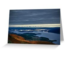 Slowly going up Ben Lomond Greeting Card