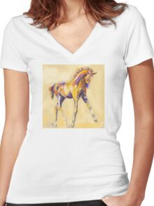 Foal colour and grace Women's Fitted V-Neck T-Shirt