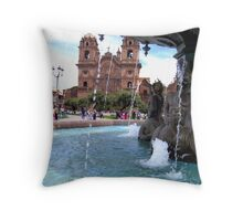 Waters of Cusco Throw Pillow