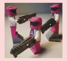 Halo Wars Pink Spartan Soldier Custom Minifigure iPod iPhone Case by Customize My Minifig by Chillee