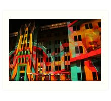 Psychedelic Industrial Museum, Sydney Art Print