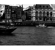 A Police Boat On The Thames Photographic Print