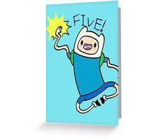 Finn High Five - Part 2 Greeting Card