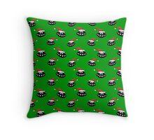 Christmas UFO's wallpaper Throw Pillow