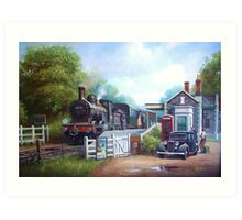 Early railway painting Art Print