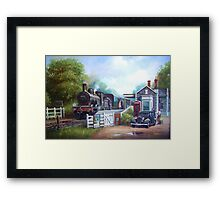 Early railway painting Framed Print