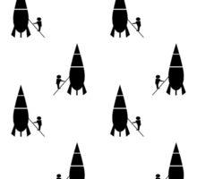 Rocket scientist wallpaper Sticker