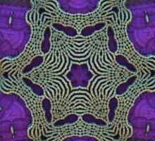 Purple Star Fractal Sticker