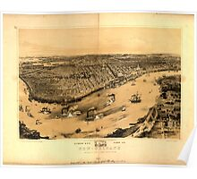 Panoramic Maps Birds' eye view of New-Orleansdrawn from nature on stone by J Bachman ie Bachmann 004 Poster