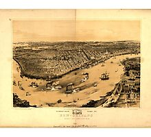 Panoramic Maps Birds' eye view of New-Orleansdrawn from nature on stone by J Bachman ie Bachmann 004 Photographic Print