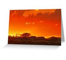 """Autumn Sunset ....."" Greeting Card"