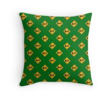 US Warning sign Christmas ahead wallpaper Throw Pillow
