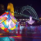 Vivid Sydney 2012 - Cube, Chandelier and Harbour Bridge by Andi Surjanto