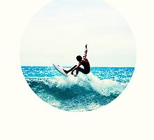 Surfing Print by YingDude