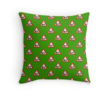 UK Warning sign Christmas ahead wallpaper Throw Pillow