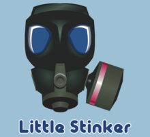 Little Stinker (Gas Mask 2) T-Shirt, Hoodie, Baby Clothes & Sticker by 'Chillee Wilson' by ChilleeWilson