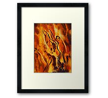 Dancing Fire VIII Framed Print