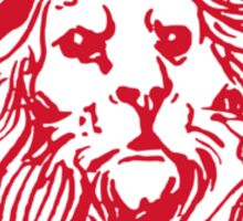 Club Ciclistico Coglioni: Monarch lion (red on white, small) Sticker