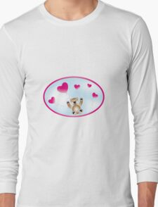Teddy with heart-balloons Long Sleeve T-Shirt