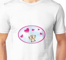 Teddy with heart-balloons Unisex T-Shirt