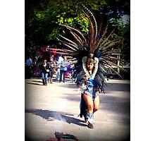 A Dancing Aztec Photographic Print