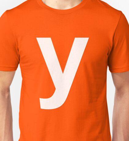 y white Unisex T-Shirt